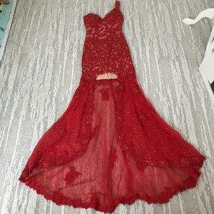 Red Formal Sequined Dress Size Small